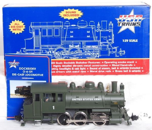 23: USA Trains Army 0-6-0T docksider