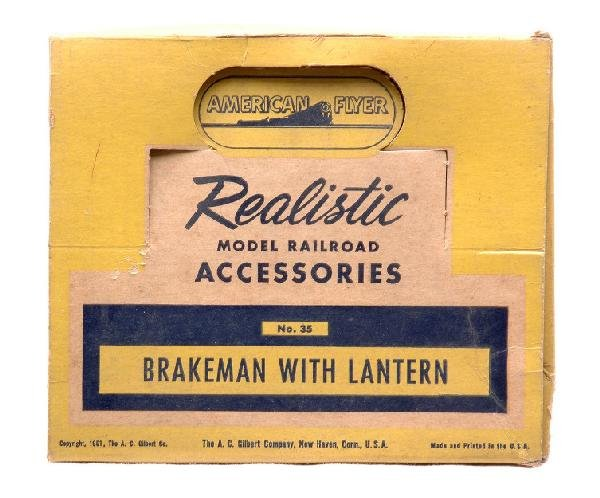 17: Am Flyer 35 Brakeman with Lantern MINT Boxed