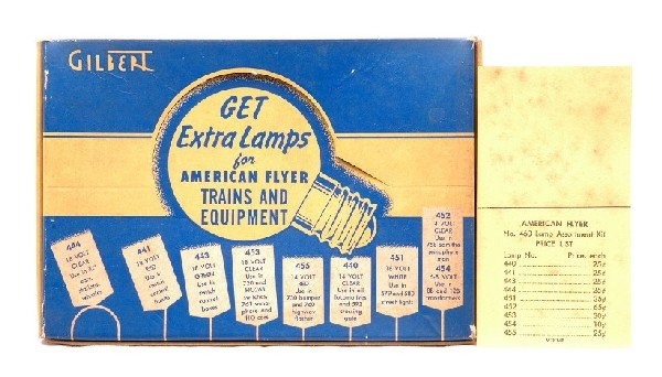 21: Am Flyer 460 Lamp Assortment Kit Complete w/OB