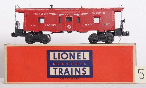 5: Lionel No. 6517 bay window caboose in original box