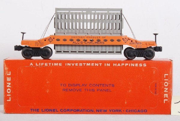 10: Lionel No. 6519 Allis Chalmers car in OB