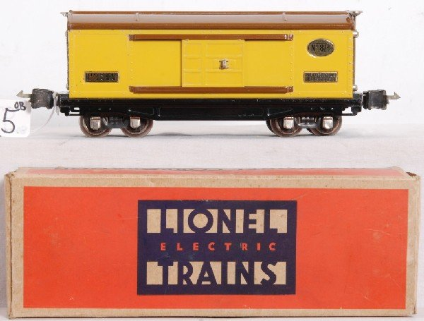 15: Prewar Lionel O gauge No. 814 boxcar in OB