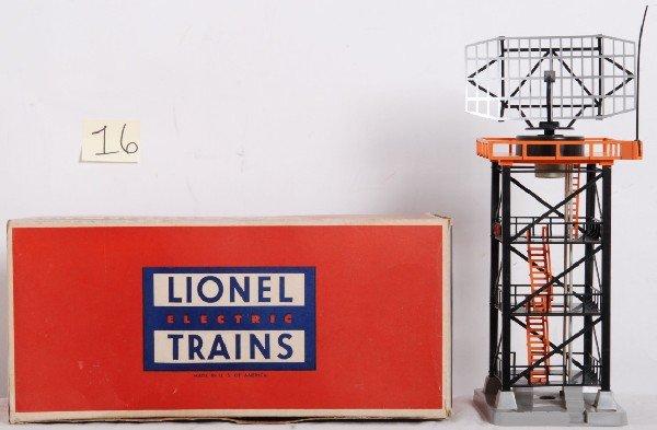 16: Lionel No. 197 rotating radar antenna in OB