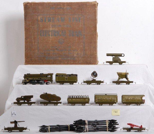 585: Marx boxed prewar Army Supply Train with 500