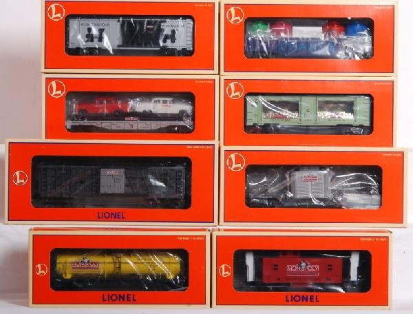 1: Lot of 8 Lionel Monopoly cars