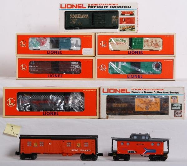 9: 7 Lionel /  2 custom painted freight cars