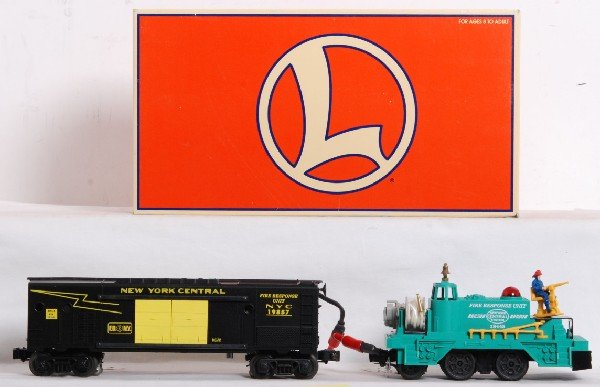 17: Lionel New York Central Fire instruction car TMCC