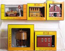 223: 5 Railking buildings A&W, barn, water tower Etc.