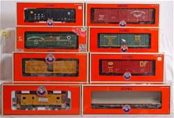 402 8 modern Lionel freight cars WP MKT Etc