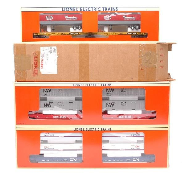 18: Lionel Flatcar Sets 16360 16912 16904 MINT Boxed