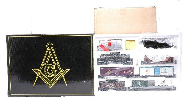 287: Weaver Masonic Freight Train Set w/6 Cars MIB