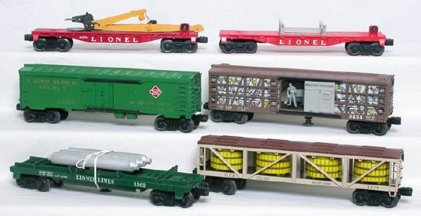 2003: Lionel freight cars 3362 3434 6475 6501 6572 6670