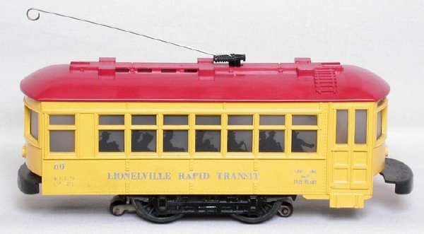 2011: Lionel 60 trolley w/ roof vents one-piece bumper