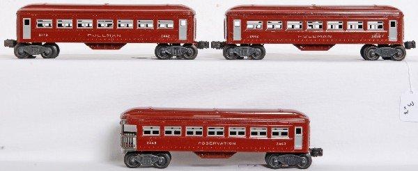 3: Postwar Lionel 2442 x2 and 2443 passenger cars - 2