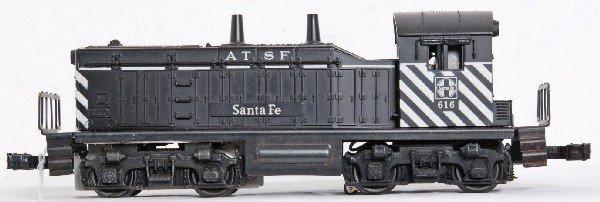 8: Lionel No. 616 Santa Fe NW-2 diesel switcher