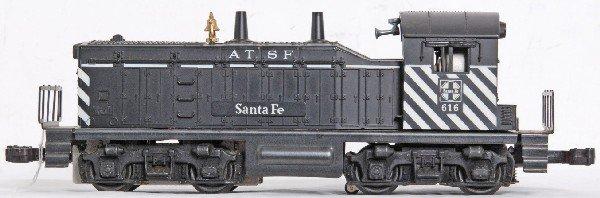 10: Lionel No. 616 Santa Fe NW-2 diesel switcher
