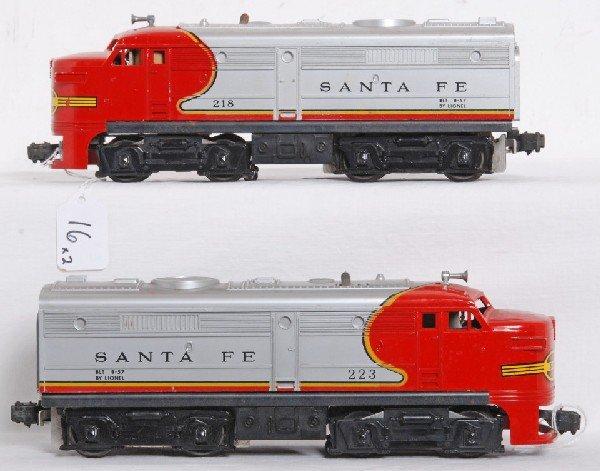 16: Postwar Lionel No. 218 & 223 Santa Fe Alco A units