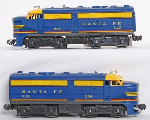 23: Lionel No. 204 Santa Fe Alco diesel A units