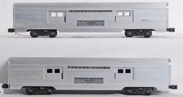 24: Two Lionel No. 2530 REA baggage cars