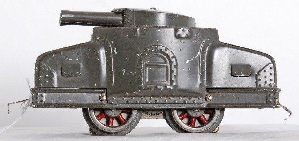 101: Lionel prewar Army tank train engine