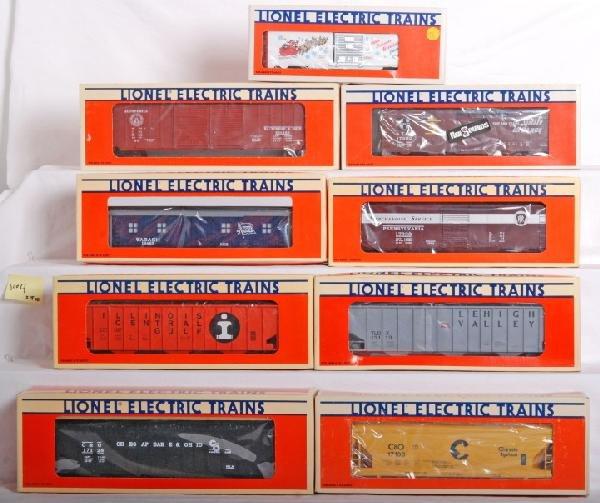 1004: 18 Lionel LTI cars 19924, 19710, 17101, Etc.