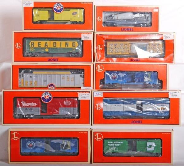 1005: 10 Lionel cars, Century Club, Chevy, CSX, Etc.