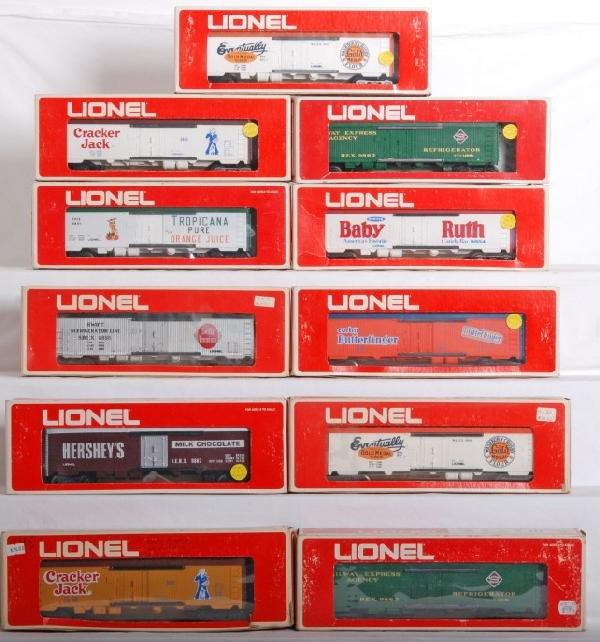 1013: 11 Lionel reefer cars, 9853, 9863, 9860, Etc.
