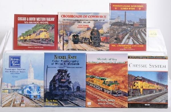 1252: 10 Eastern railroad books, NKP, PRR, NYC, C&NW...