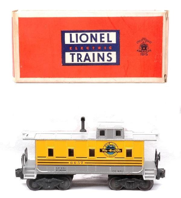1: Lionel 6657 Rio Grande Caboose MINT Boxed