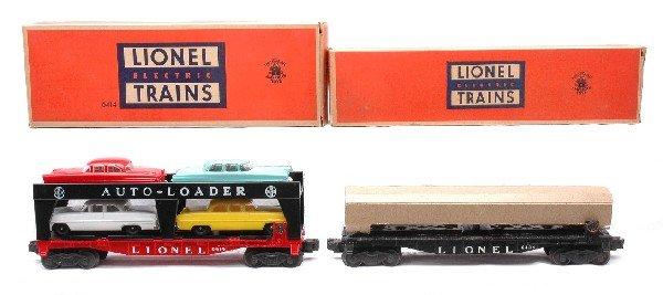 2: Lionel 6414 Auto Car 6424 Auto Flatcar LN OBs