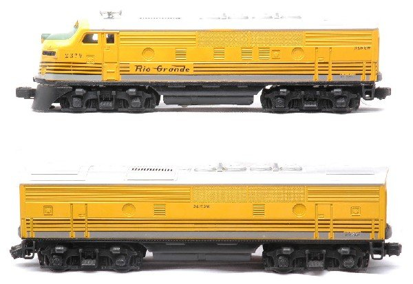 10: Lionel 2379 Rio Grande F3 AB Diesel Units