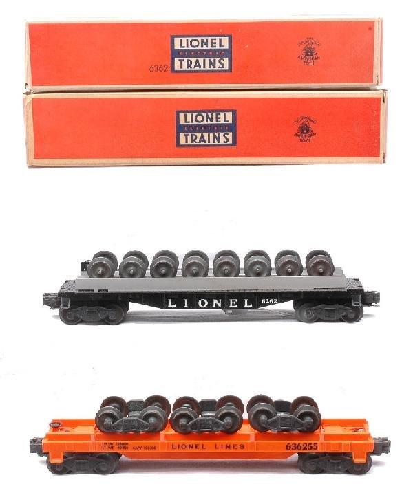 14: Lionel 6262 Wheel Car 6362 Rail Truck Car MIB