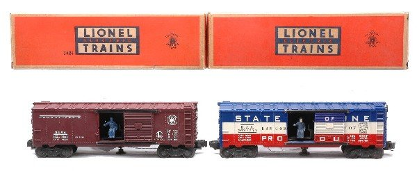 22: Lionel Boxcars 3484 PA MINT 3494-275 LN Boxed