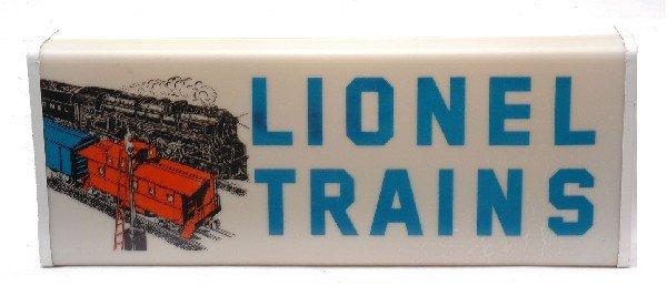150: Lionel Lighted Lionel Trains Dealer Sign by Essex