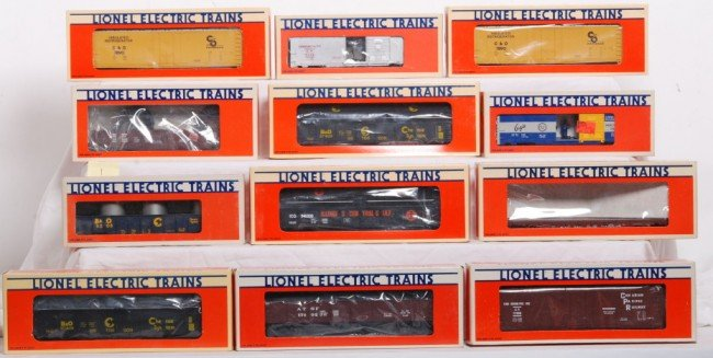 1: 12 Lionel LTI freight cars C&O, Chessie, CP, Etc.