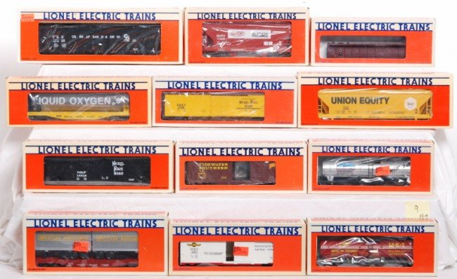 9: 12 Lionel LTI cars TTOS, NKP, Dupont, etc.