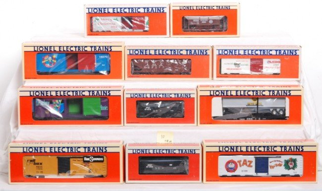 10: 11 Lionel Freight and Disney cars