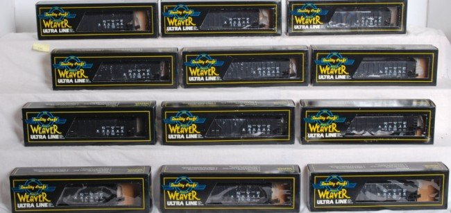24: 12 Weaver New York Central 3 bay coal cars