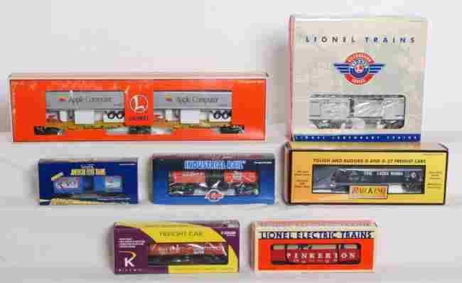 205: 7 Lionel/ MTH K Line cars 36703 horse car etc.