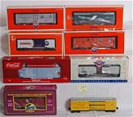 226 8 Lionel reefers MTH caboose K Line Coca cola