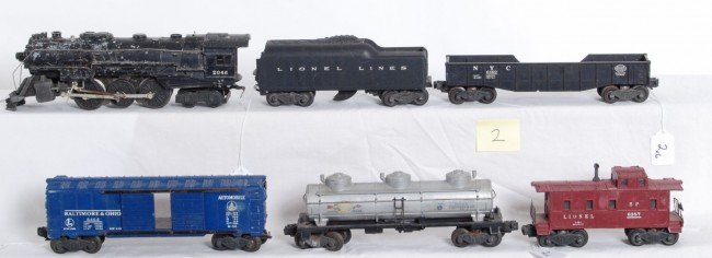 2: Lionel No. 2046, 2046W, Sunoco, 6468, 6462, 6357