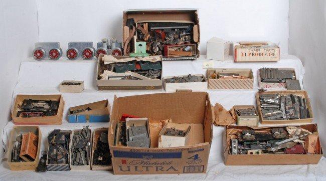 21: Prewar train parts, motors, lockons...