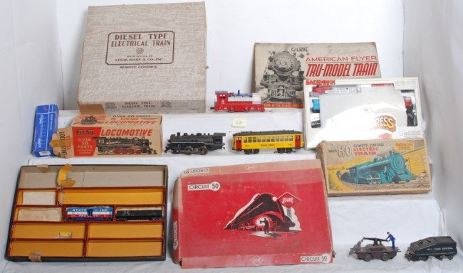22: Lot of toy trains, Marx, Jouef, Bachmann