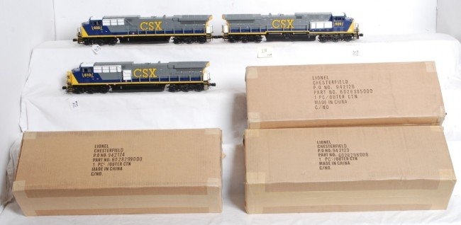 218: 3 Lionel CSX AC6000 with Legacy
