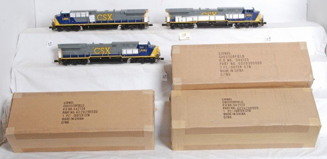 218: 3 Lionel CSX AC6000 with Legacy - 2