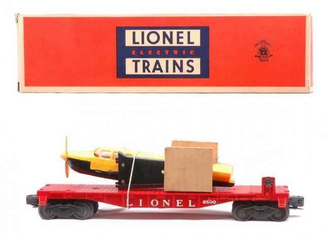 1: Lionel 6800 Flatcar w/Yellow Airplane LN OB
