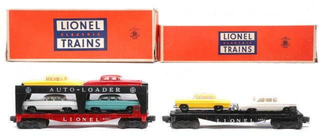 5: Lionel 6414 Evans 6424 Flatcar w/Cars LN Boxed