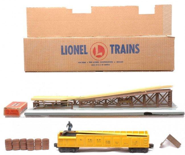 7: Lionel 362 Barrel Loader OB 3562-50 Barrel Car LN