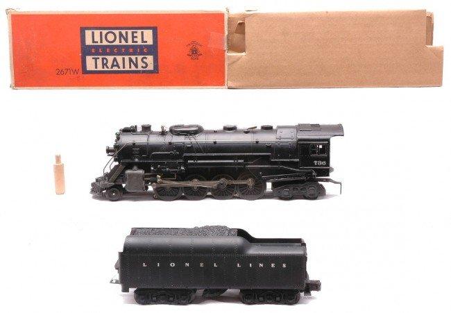 10: Lionel 736 Berkshire Loco & 2671WX Tender LN