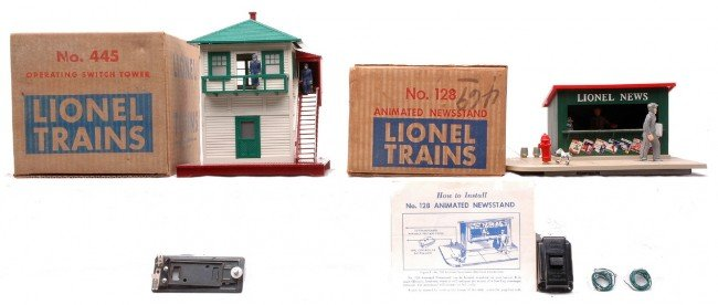 12: Lionel 128 Newsstand 445 Switch Tower Boxed